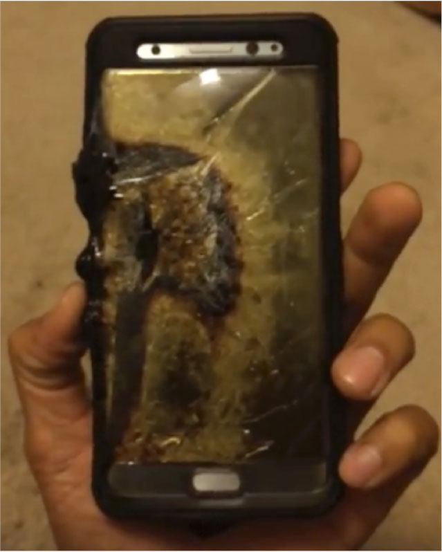 Samsung Phone Fire