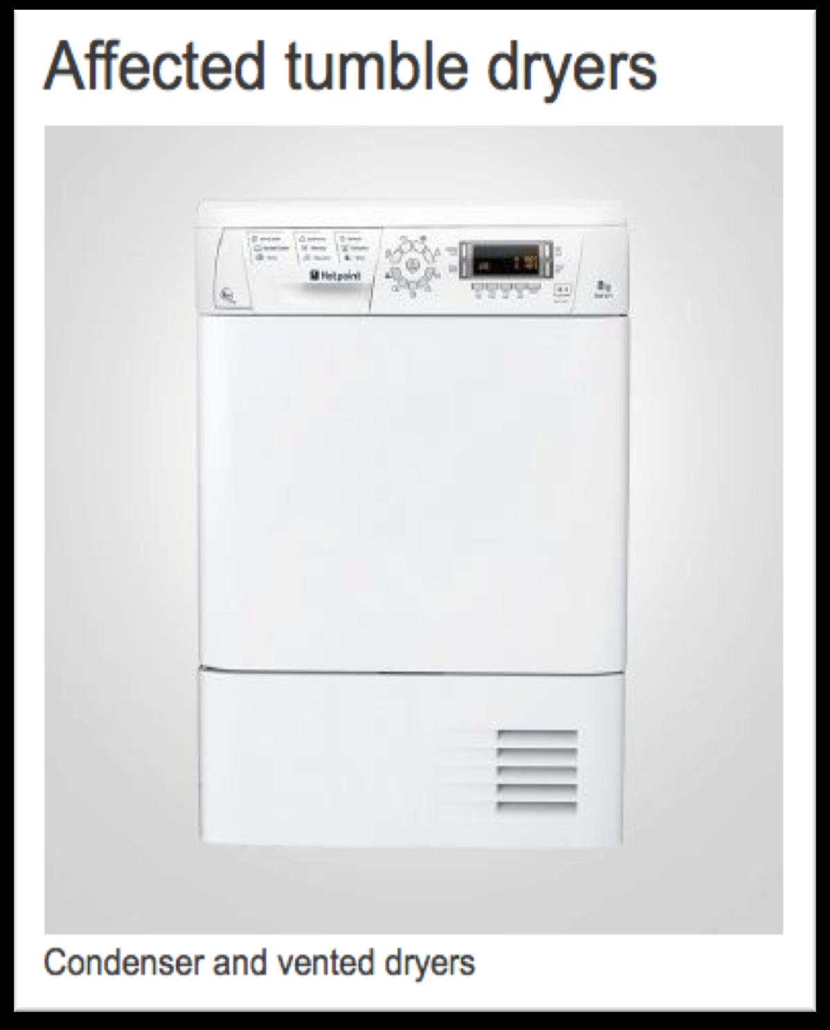 Tumble Dryer Fires